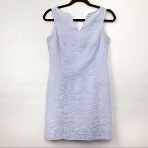 Lauren James Split Neck Seersucker Dress XS